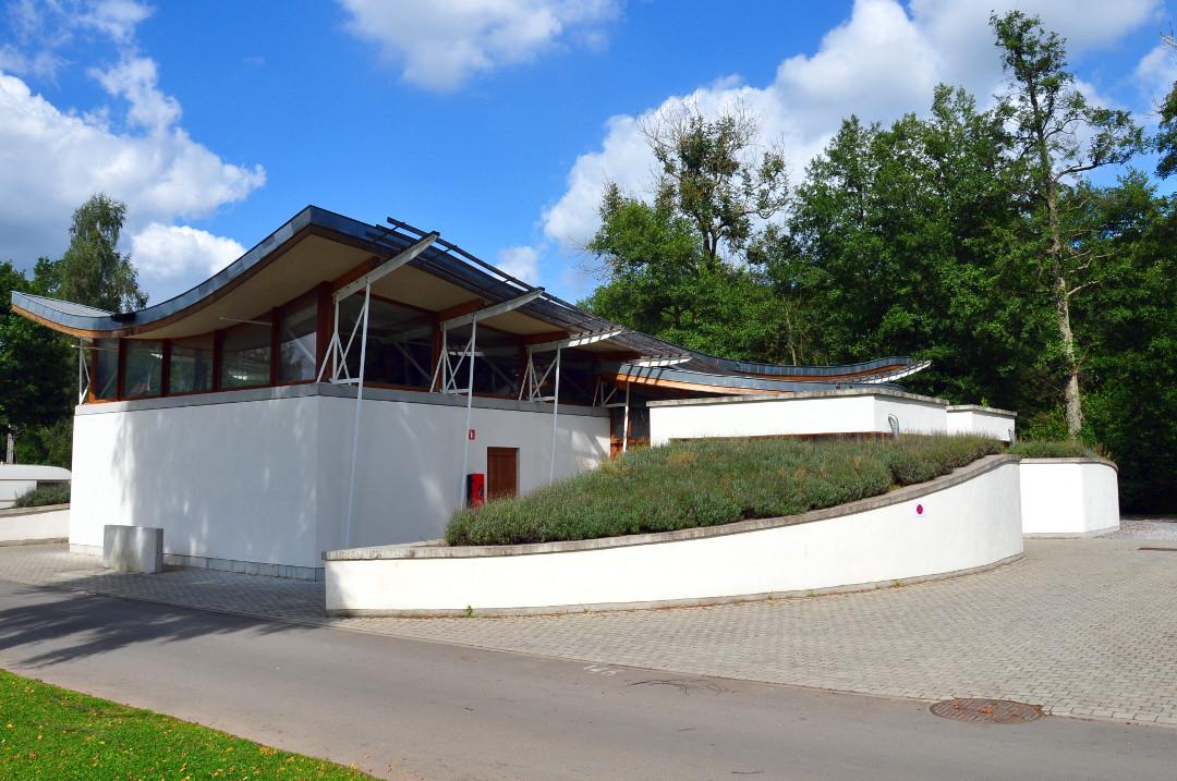 Het sanitair van de camping Le Val de l'Aisne