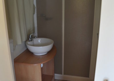 Lodgetenten met badkamer