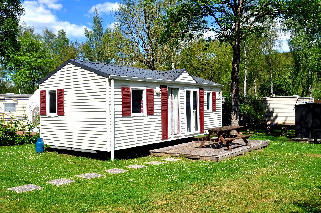 Locatie luxe chalet, mobilhome en stacaravan camping Ardennen belgie