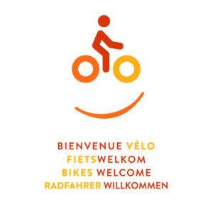 Label fiets welkom