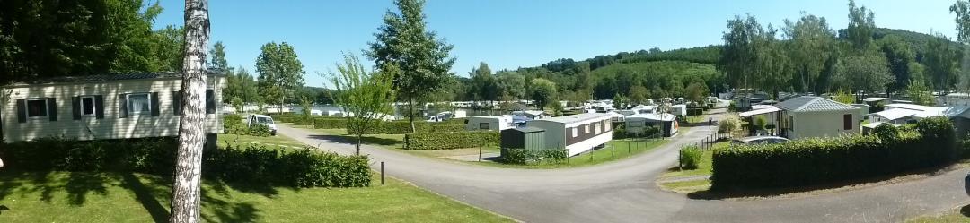 Panorama van de camping
