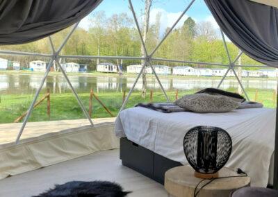 Glamping Ardennen slapen in een luchtbel