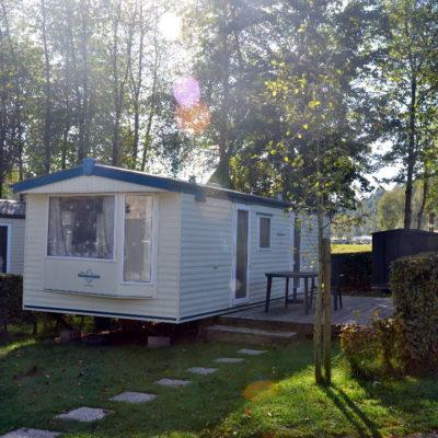 Caravane à vendre en ardenne avec terrain de camping