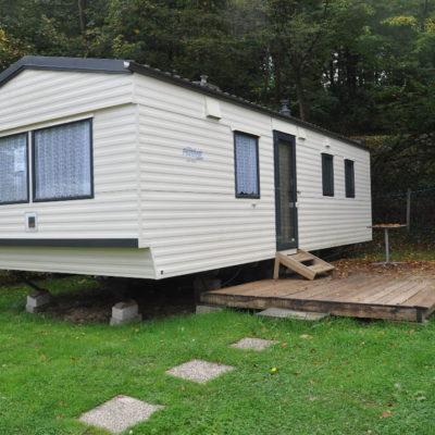 Caravane d'occasion 2 chambres sur terrain de camping en Ardenne