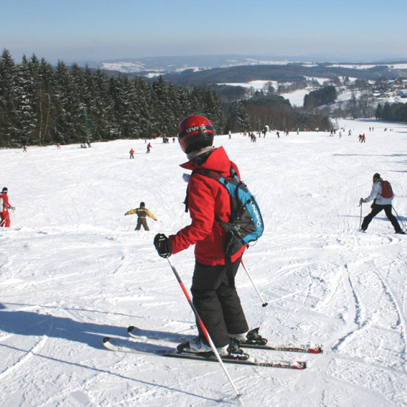 Pistes de ski de la Baraque de Fraiture - Skier en Ardennes Belges