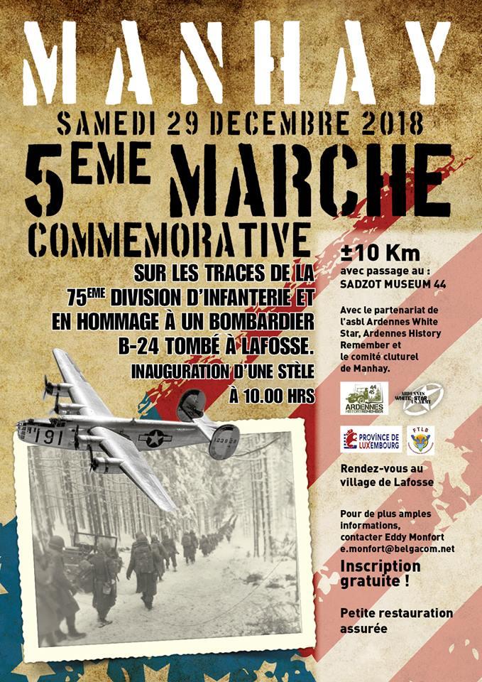 Affiche Marche Commémorative Manhay