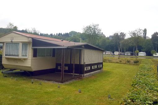 Caravane 2 chambres sur parcelle de camping en Ardenne Belgique