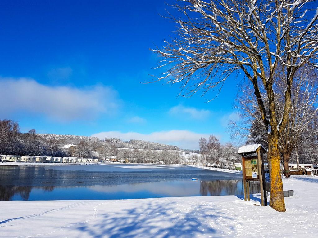Camping dans les Ardennes belges ouvert en hiver